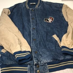 Vintage Florida State Lee Sport Denim Jacket sz XL